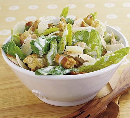 But I am on diet, this is a treat also Caesar Salad.