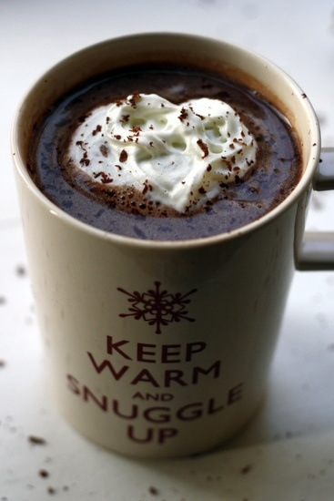 While it is cold outside northing better than a cup of Hot Chocolate, and the squirt cream can be used later ;-).