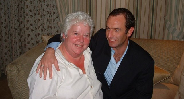 Val McDermid & Robson Green taken from her website.